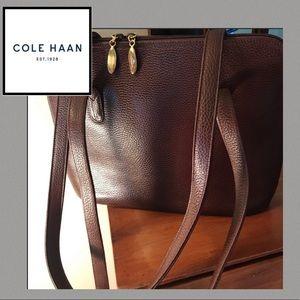 Cole Haan Italian leather shoulder bag - BROWN